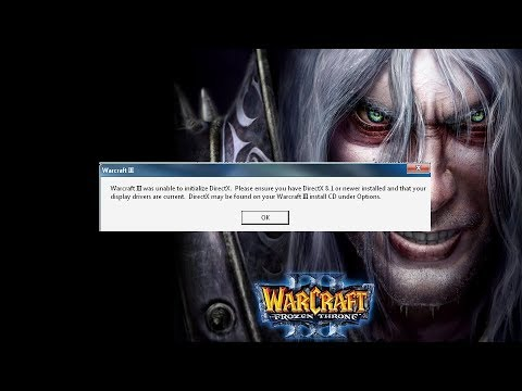 Warcraft 3 DirectX error