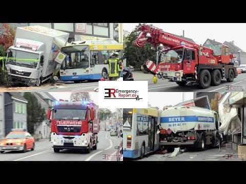 TÖDLICHER UNFALL IN SOLINGEN] - Tankwagen krachte in Bus & weiteren ...