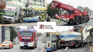 [TÖDLICHER UNFALL IN SOLINGEN] - Tankwagen krachte in Bus & weiteren LKW - [GROSSEINSATZ] -