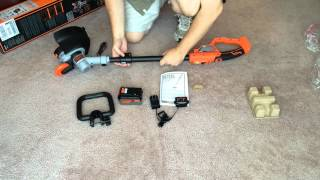 Black & Decker LST400/LST420 12-Inch 20-volt Lithium Trimmer/Edger - Unboxing and Assembly