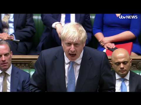 Live: Boris Johnson addresses Commons for first time as prime minister | ITV News
