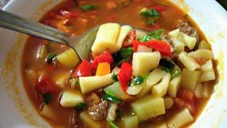 Мампар, Уйгурский суп с клёцками, как приготовить Мампяр