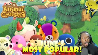 Hunting ALL of June's Most Popular Villagers! | Animal Crossing New Horizons