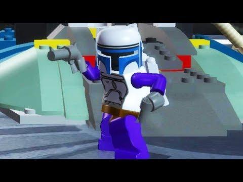 LEGO Star Wars The Complete Saga Walkthrough Part 8 - Jango Fett Chase!