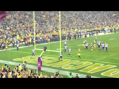 Packers vs. Vikings at Lambeau Field with the boys October 2, 2014