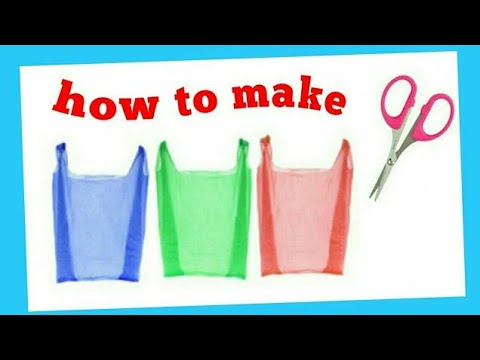 How to make parachute l kid's craft l plastic bag l fun craft lক্যারি-প্যাকেট দিয়ে প্যারাসুট