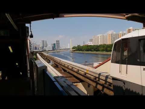 Tokyo monorail 4K side 東京モノレール 2017