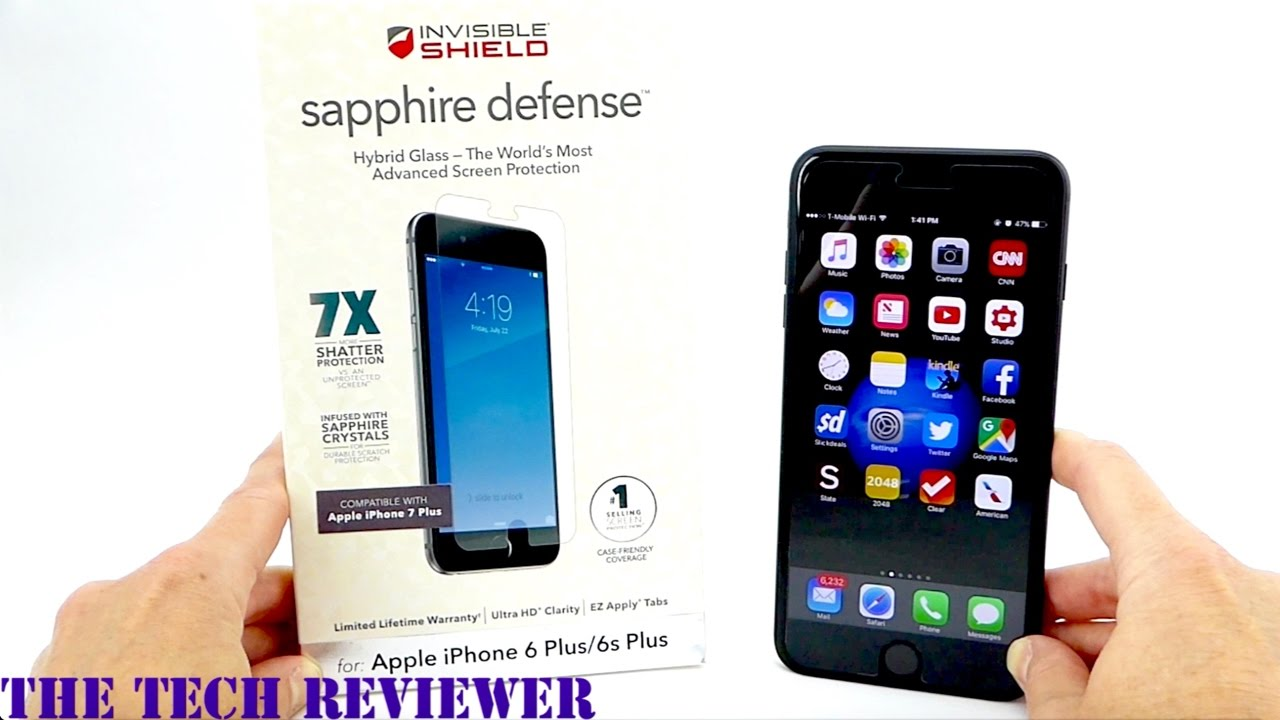 big sale e2b3d 5bcfe Give your iPhone 7x Shatter Protection with the Zagg Sapphire Defense for  iPhone 7 Plus!
