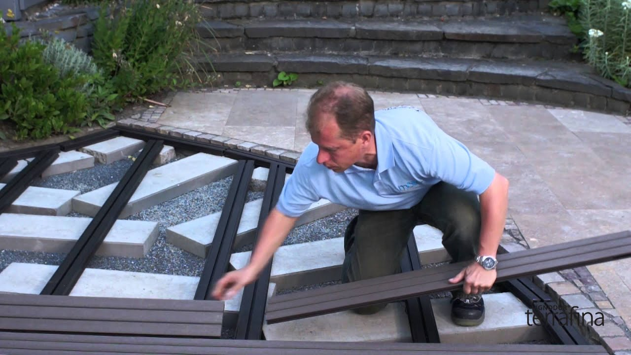 la pose d'une terrasse terrafina (wpc) - partie 2: la pose des lames