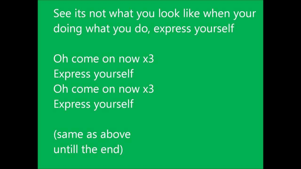 Labrinth - Express yourself (lyrics) - YouTube