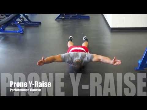 Prone Y Raise