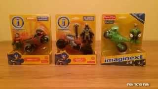 Imaginext DC Super Friends Batman, Robin & Green Lantern Motorbikes - Quick Look