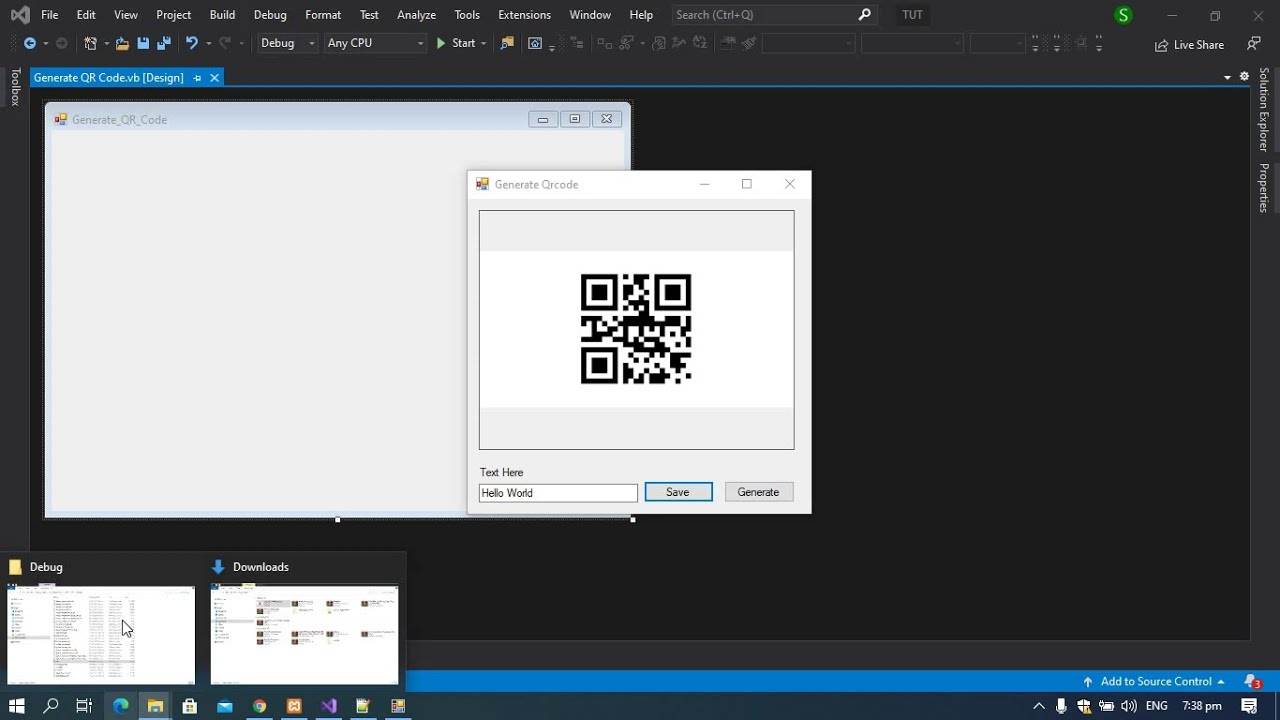 QR Code Generator in VB NET Tutorial and with Source code