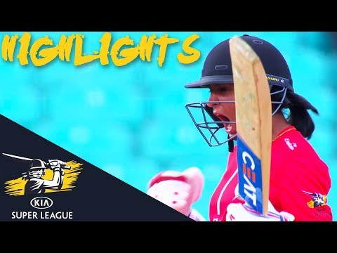 Harmanpreet Kaur Hits Winning 6 At The Death! | Stars v Thunder | Kia Super League 2018 - Highlights