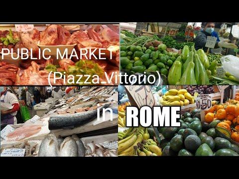 PUBLIC MARKET IN ROME ITALY