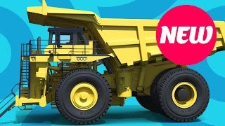 Dump truck for kids - Dump trucks for children - Cartoon Animation