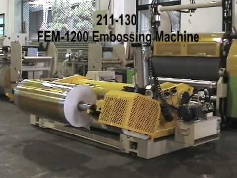 211-130 FEM Aluminum Foil And Paper Embossing Machine Test Run