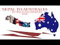 NEPAL TO AUSTRALIA FIRST FLIGHT (NIZAM KC)
