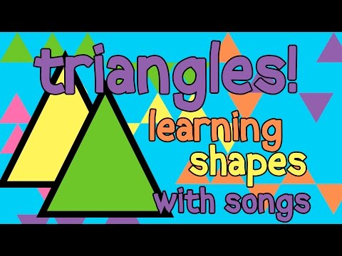 TRIANGLE SONG FOR KIDS – Learn Shapes for Toddlers Shapes for Children Learn Shapes Song