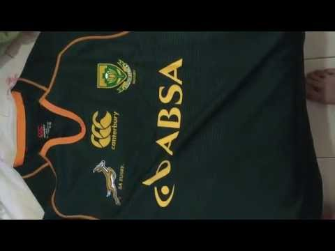290ab0836 Jersey rugby South Africa ( África do Sul ) springboks ( aliexpress ) -  YouTube