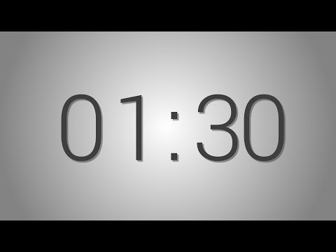 1 Minutes 30 seconds countdown Timer - Beep at the end | Simple Timer (one min thirty seconds)