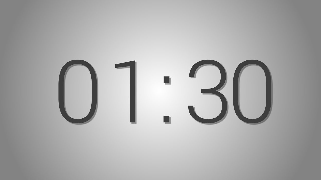 1 Minutes 30 seconds countdown Timer - Beep at the end ...