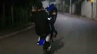 Rapitei a mini moto da Yamaha do parceiro 😎😎