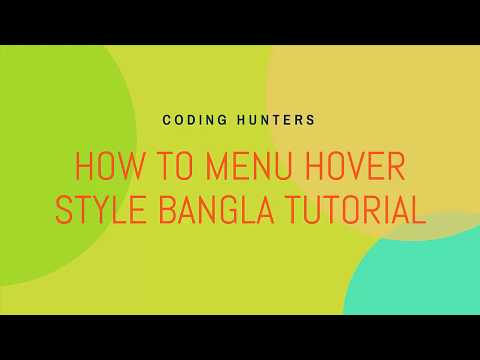 How to Menu on Hover Html and Css Bangla Tutorials thumbnail