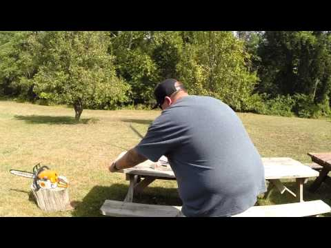 Fisherman uses Chainsaw on lures #14