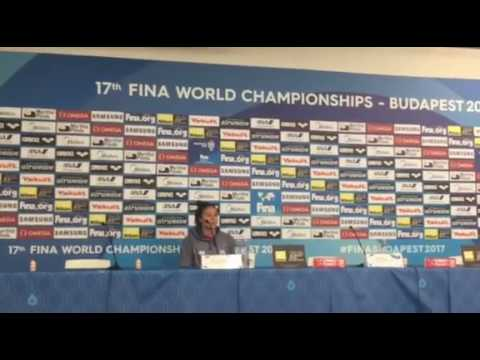 Mallory Comerford PRESS CONFERENCE Budapest 2017