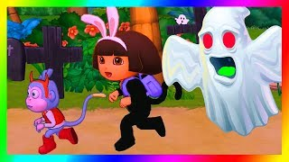 Dora the Explorer Games to Play Cartoon ➤ Dora's Halloween Parade and Friends!