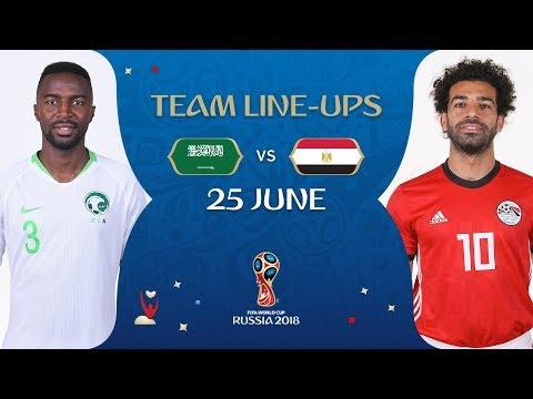 LINEUPS – SAUDI ARABIA V EGYPT - MATCH 34 @ 2018 FIFA World Cup™