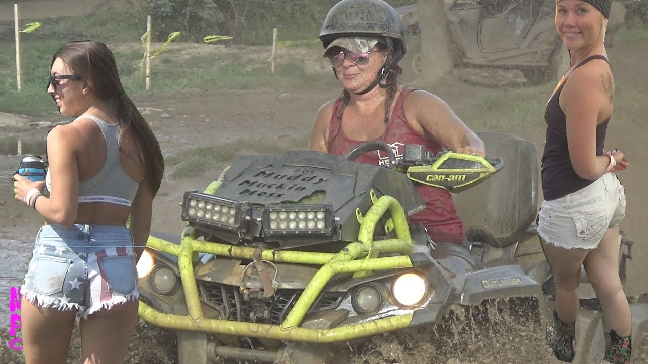 Round ass girls on muddy atvs naked holding ass