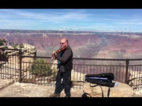 Celtic Fiddle Guru At The Grand Canyon USA