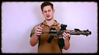 ARES Amoeba AM-013 THE HONEY BADGER Airsoft Gun Assault Rifle REVIEW!