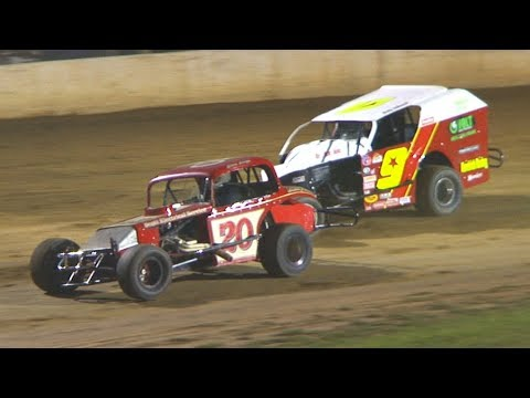 Vintage Modified Heat Two at Stateline Speedway (Busti, NY) on Saturday, August 31st, 2019! Stateline Speedway: http://newstatelinespeedway.com. - dirt track racing video image
