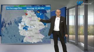 In den Alpen nachlassender Schneefall (Mod.: Frank Böttcher)