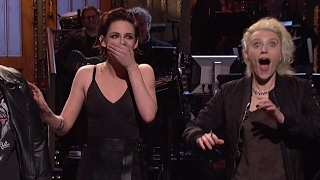 kristen stewart drops f bomb calls out trump calls herself so gay on snl
