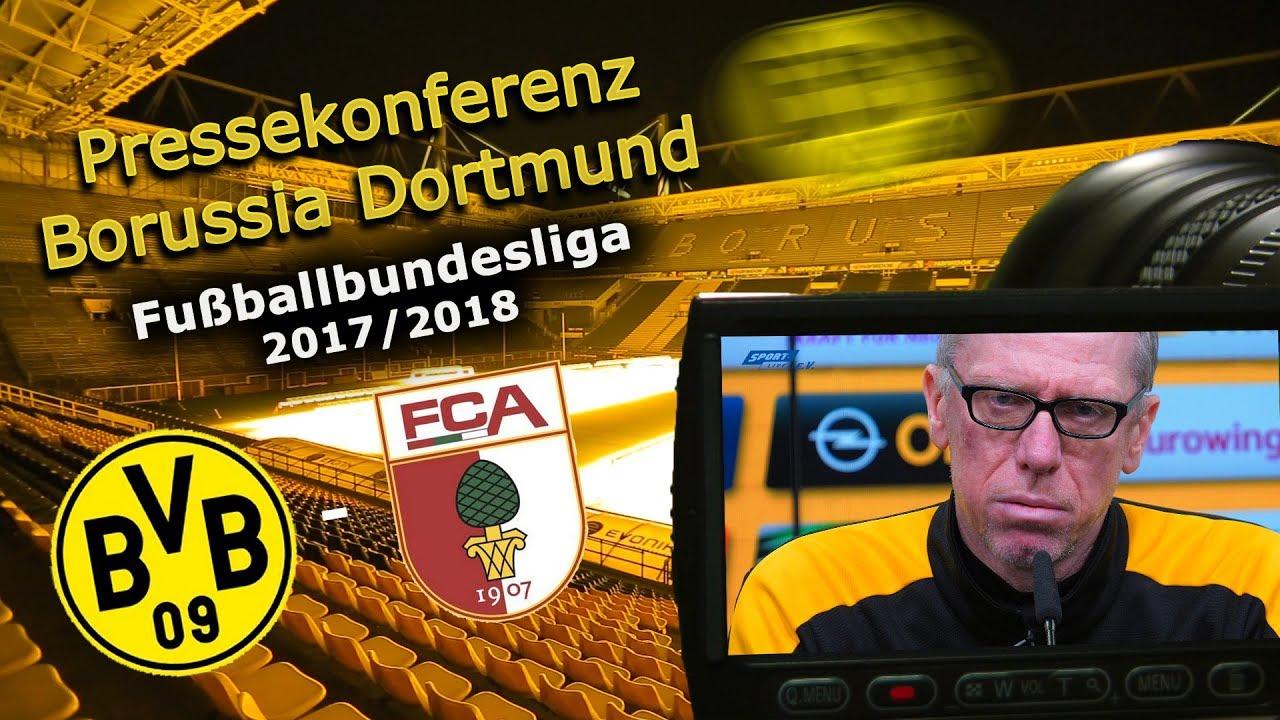 Borussia Dortmund - FC Augsburg: Pk mit Manuel Baum und Peter Stöger