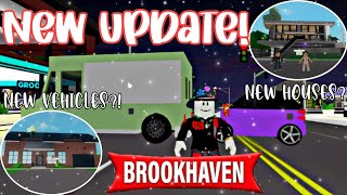 NEW BROOKHAVEN UPDATE!! | Nęw Houses, New Vehicles, and MORE!!