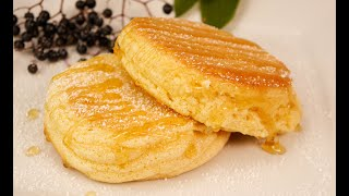 These pancakes melt in your mouth !! Soft, softer, souffle pancakes