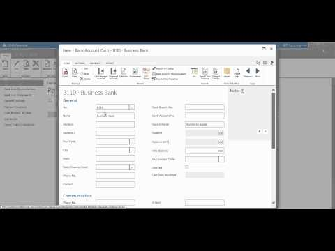 How to set up your bank account - Financials for Office 365