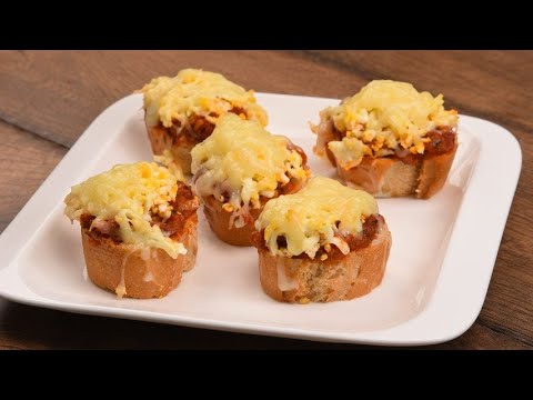 Egg baguette an easy appetizer ready in no-time