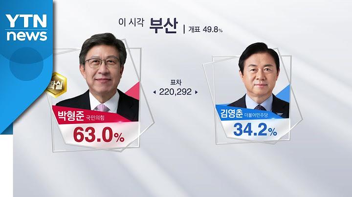 [이 시각 개표상황] 부산 개표율 49.8%...박형준 당선 '확실' / YTN