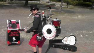 "One-Man Band Sings ""imagine"""