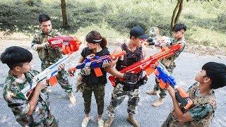 LTT Nerf War : SEAL X Warriors Nerf Guns Fight Attack Criminal Group Armed Bandits Car