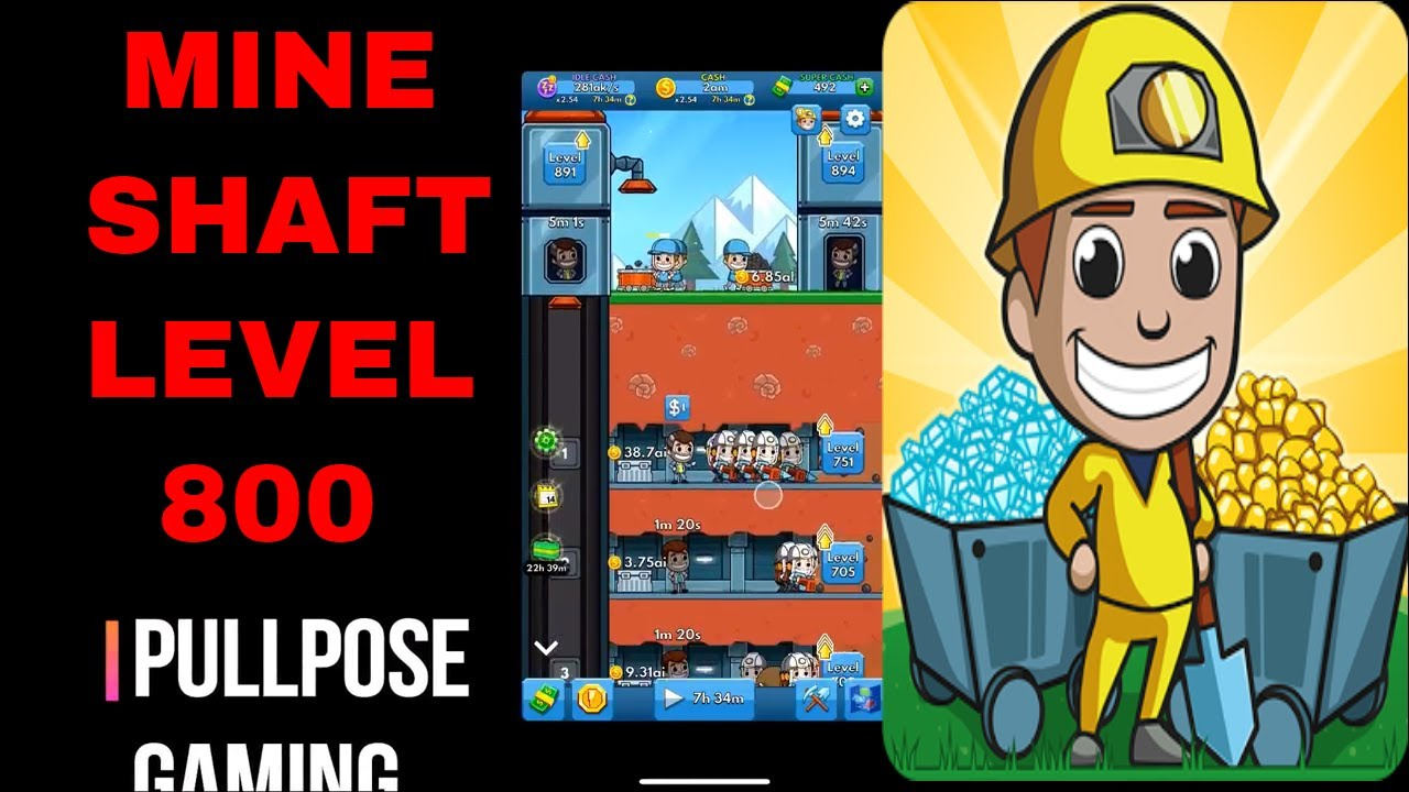 IDLE MINER TYCOON! FIRST MINE SHAFT LEVEL 800! MAX LEVEL! (Part 19) - YouTube