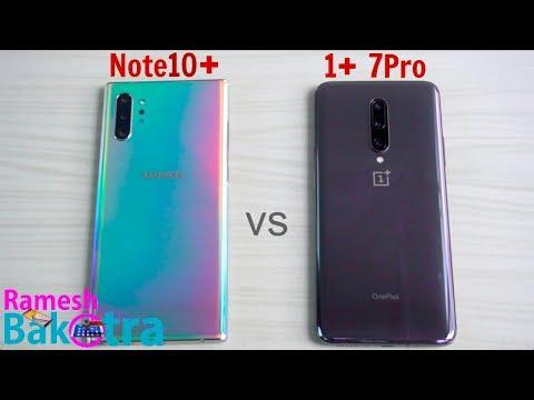 Samsung Galaxy Note 10 Plus vs OnePlus 7 Pro SpeedTest and Camera Comparison