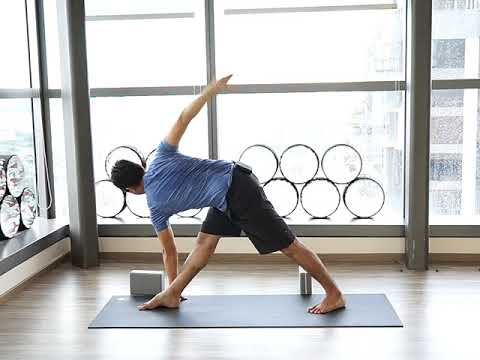 revolved triangle pose  youtube