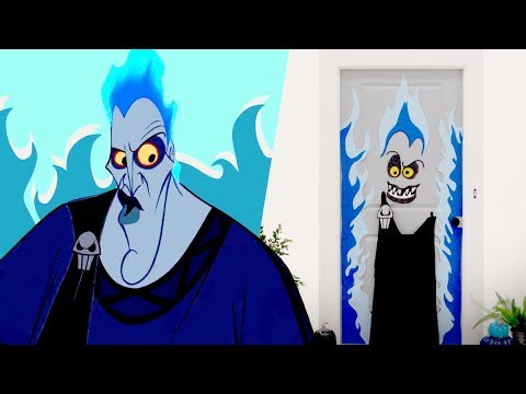 Hades Halloween Door Decor | Disney DIY by Disney Family